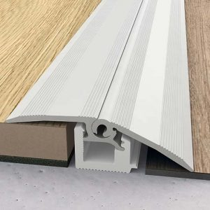 Edge Trims These Sit In Flush To The Wall And Typically Vinyl Tiles Flooring Fits Snugly Into Them Give A Very Neat Finish